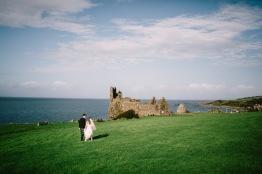 Dalduff Farm Ayrshire Wedding Couple Portraits Scenery Dunure Castle