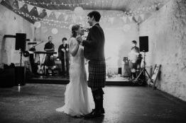Dalduff Farm Ayrshire Wedding Reception First Dance Smile