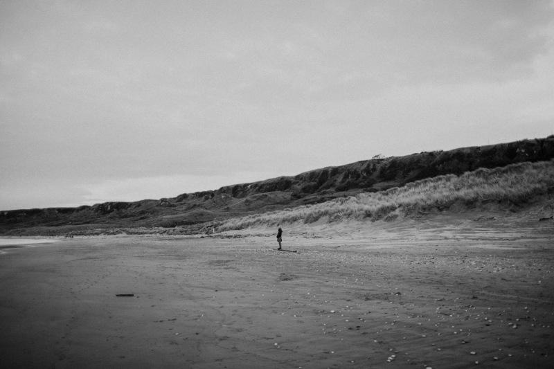 white park bay beach winter walk black and white landscape
