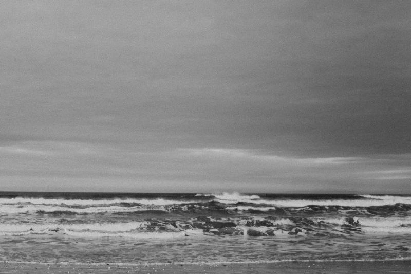 white park bay sea winter waves