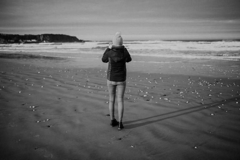 white park bay beach sea winter